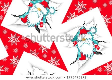 Christmas snow paper torn wall Stock photo © romvo
