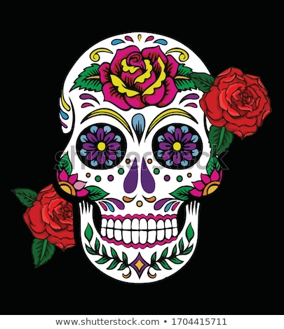 Day of the dead skull illustration Stock photo © abdulsatarid