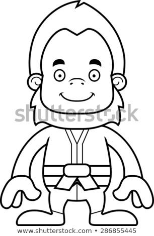 Rajz mosolyog karate grafikus vektor Stock fotó © cthoman