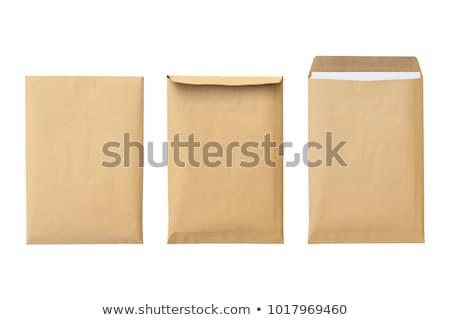 Kahverengi zarf atış Stok fotoğraf © devon