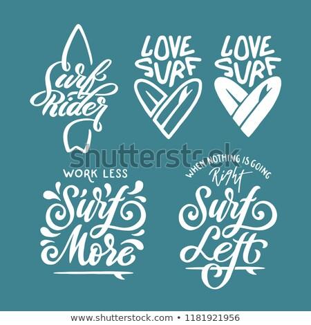 amor · surf · hermosa · surfista · nina - foto stock © iko