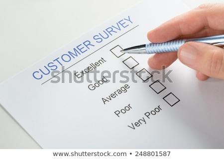 felmérés · lista · kéz · csekk · osztályzat · zöld - stock fotó © ivelin