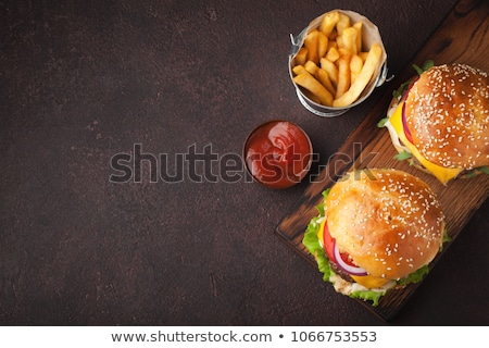tasty grilled home made burgers stock photo © karandaev