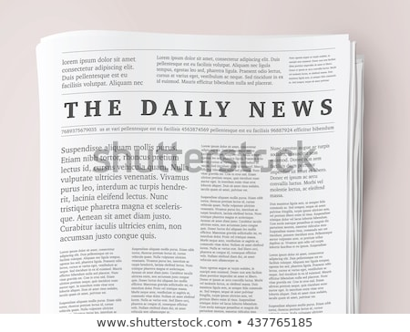 Newspaper Vector. Blank Daily Newspaper. Headline News. Reportage Information. Illustration Stock photo © pikepicture