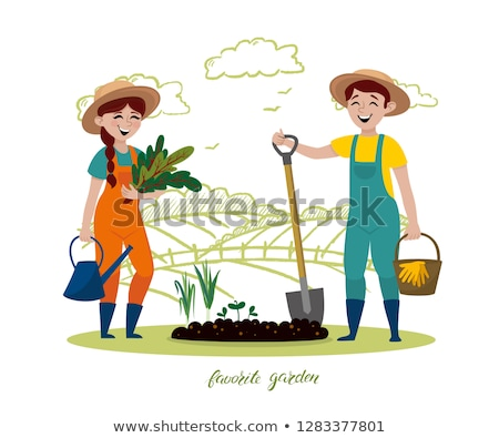 Farmer Agricultural Activities Vector Illustration Stock photo © robuart