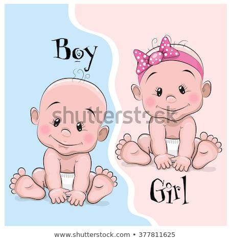 Cartoon baby jongen fopspeen illustratie kinderen Stockfoto © cthoman