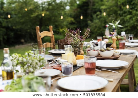 cafe with outdoor dining tables stock photo © colematt