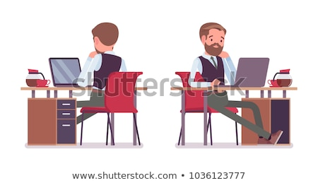 Male Smart Worker Laptop Gadget Isolated Vector Stock photo © robuart