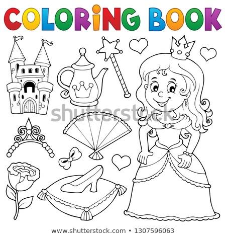塗り絵の本 王女 トピック セット 少女 図書 ストックフォト © clairev