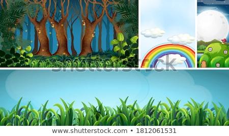Dzieci kolorowy wyimaginowany fantastyczny środowiska lornetki Zdjęcia stock © alphaspirit