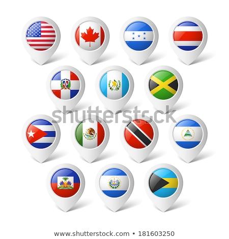 パナマ · 地図 · 異なる · シンボル · 白 · ビジネス - ストックフォト © kyryloff