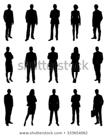 nők · vektor · izolált · üzletemberek · ikon · gyűjtemény · csapatmunka - stock fotó © pikepicture