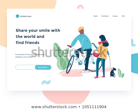 Dating app - flat design style vector illustration Stock photo © Decorwithme