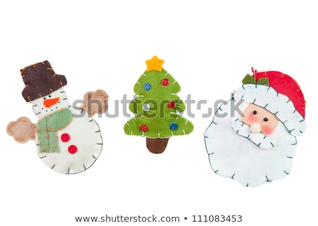 santa with funny face over christmas tree Stock photo © dolgachov