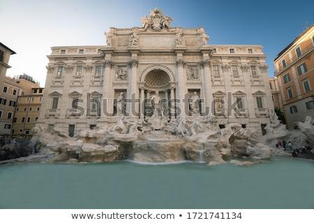 Fontein mooie Rome Italië hemel gebouw Stockfoto © Givaga