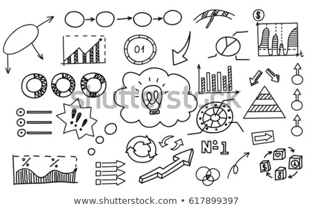 Board with Infographics and Schemes Visualization Foto stock © robuart