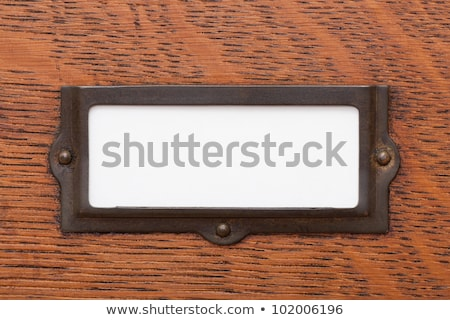 A drawer cabinet with an empty label Stock photo © Zerbor
