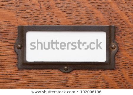 file · cassetto · etichetta · bianco · vecchio - foto d'archivio © zerbor