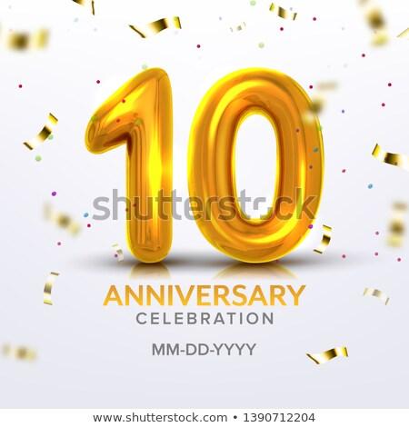 Aniversario nacimiento celebración número vector postal Foto stock © pikepicture