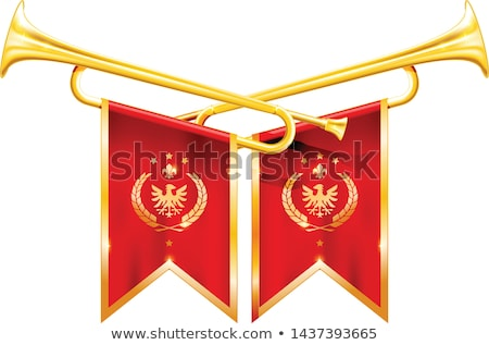 lint · vlag · trompet · vlaggen · muziekinstrumenten · gebruikt - stockfoto © winner
