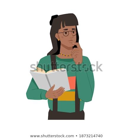 Ragazza insegnante facce sentimenti illustrazione bella Foto d'archivio © lenm
