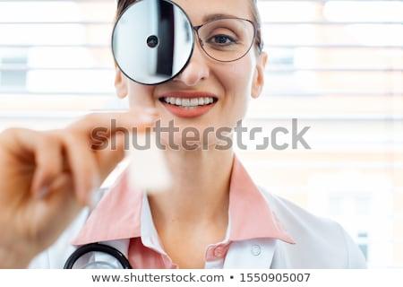 Specjalista gotowy badanie patrząc kobieta biuro Zdjęcia stock © Kzenon