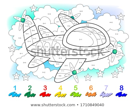 subtraction educational game color book Stock photo © izakowski