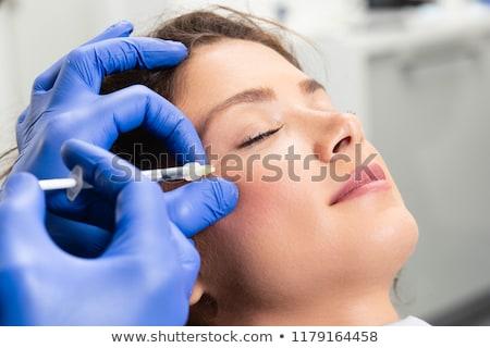 красивая женщина красоту лице инъекций старение врач Сток-фото © serdechny
