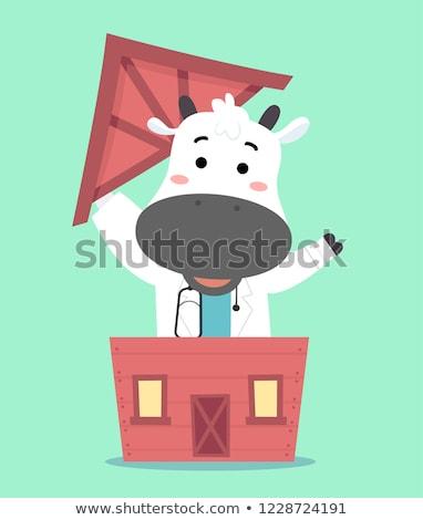 Vaca doctor veterinario vivir stock granero Foto stock © lenm