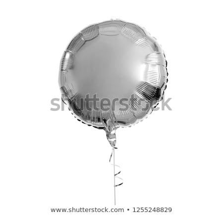 Een zilver helium ballon witte vakantie Stockfoto © dolgachov