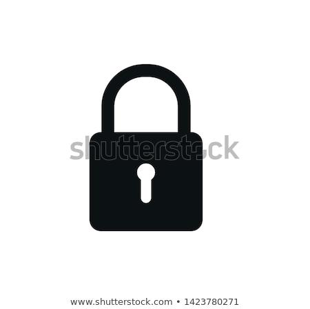 Www asma kilit Internet güvenlik üç siyah Stok fotoğraf © lichtmeister