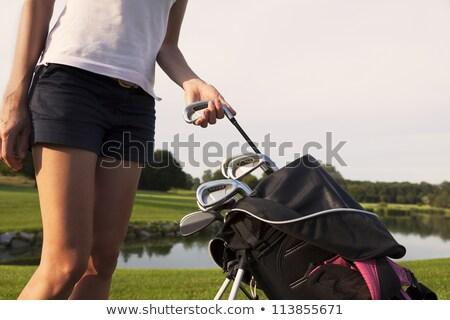 fiatal · női · golfozó · golf · hinta · nő - stock fotó © lichtmeister