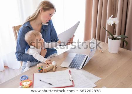 семьи · ноутбука · Министерство · внутренних · дел · компьютер · женщину · служба - Сток-фото © dolgachov