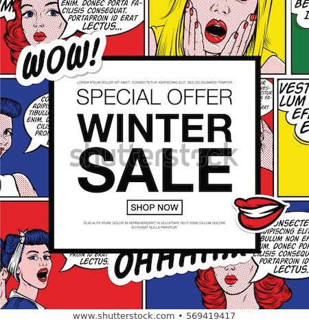 Vector arte pop cómico venta web banner Foto stock © blumer1979