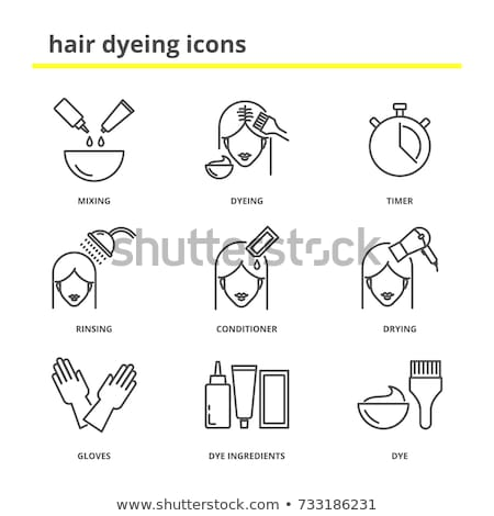 Hair Washing Procedure in Beauty Salon Vector Stock photo © robuart