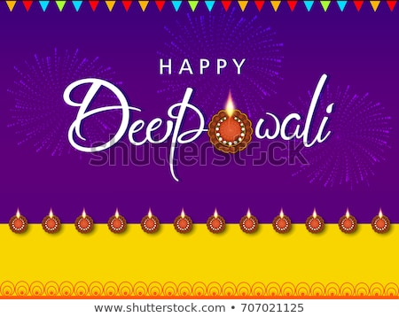 happy diwali festival sale banner with diya decoration stock photo © sarts