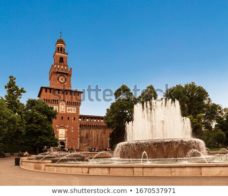 Central tower of Sforza Castle in Milan Stock photo © vapi
