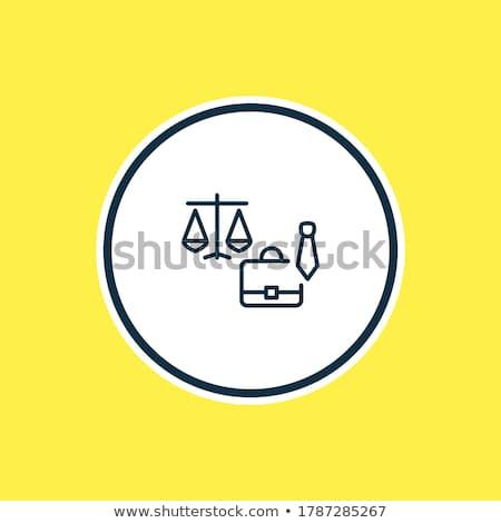 mala · lei · julgamento · ícone · vetor · fino - foto stock © pikepicture