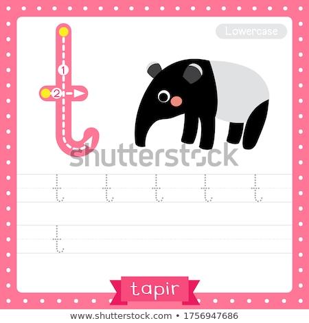 Pädagogisch Karikatur Tier Illustration Alphabet Stock foto © izakowski