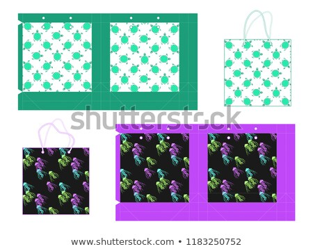 Template paper gift package. Seamless background with stylistics turtles. Stock photo © Arkadivna
