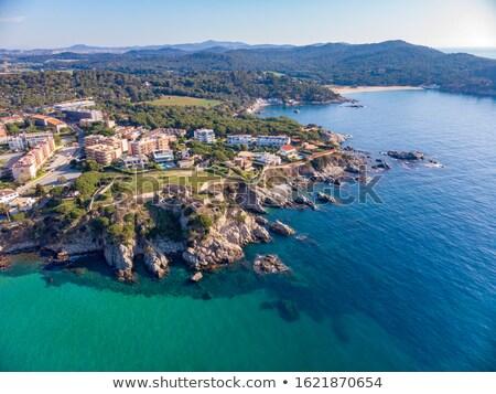 Drone picture over the Costa Brava coastal, small village La Fosca of Stock photo © digoarpi