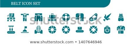 Gordel icon vector schets illustratie teken Stockfoto © pikepicture