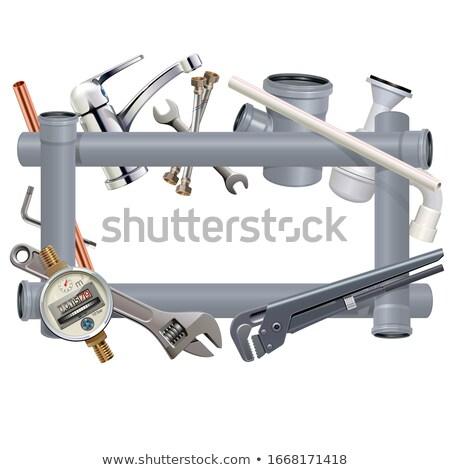 Vetor sanitário engenharia quadro isolado branco Foto stock © dashadima