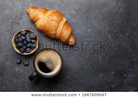 Vers croissants bes jam top Stockfoto © karandaev
