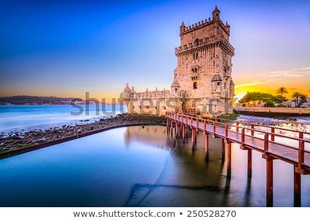 Lizbon Portekiz güneş ışık işaret Retro Stok fotoğraf © neirfy