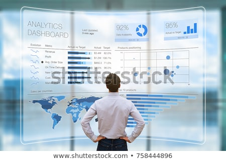 приборная панель данные аналитика бизнеса ноутбука женщину Сток-фото © AndreyPopov
