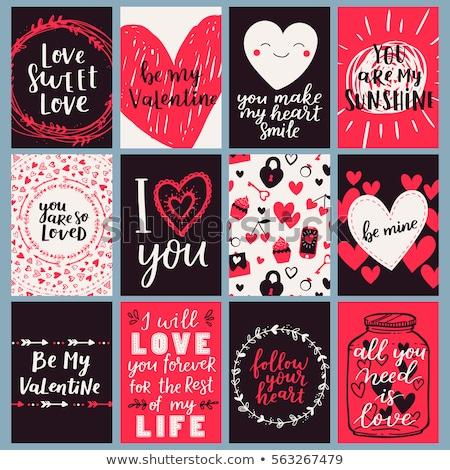 floral valentine card Stock photo © get4net