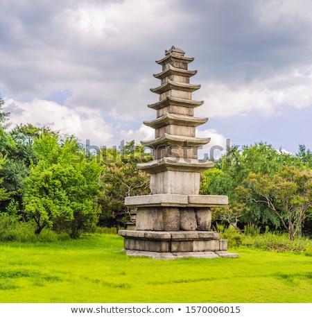 Sotaeri seven-story Stone Pagoda in South Korea Stock photo © galitskaya