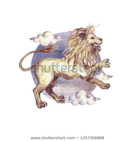 Astrological Leo Sign, Symbol of Lion with Mane Stock photo © robuart