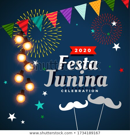 festa junina celebration wishes greeting card background Stock photo © SArts